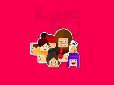 we are one creative vector stickers adobeillustration cartoon character illustration art weareone adobe illustrator