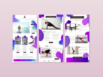 Yoga Website Theme icon vector logo design graphic design branding