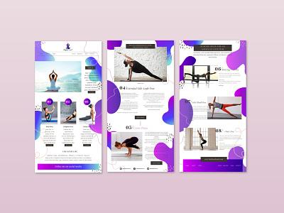Yoga Website Theme icon vector logo design graphic design branding