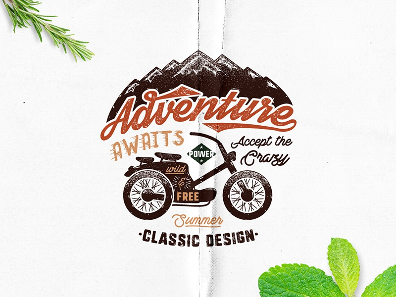 Free Download Adventure Label free stuff vintage typography camping wanderlust free vector badge travel freebie gift download free design