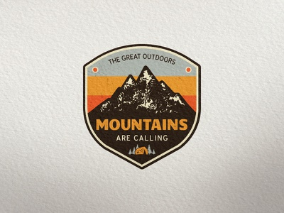 Mountain Expedition Badge badge camping tent logo illustration vector shirt icon vintage apparel patch mountain