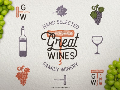 Wine Badge Template hand crafted winery grape badge vintage design workplace work in progress logo label wine