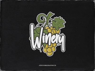 Vintage Winery Badge / Patch wine label logo apparel graffiti design vintage badge grape winery hand crafted