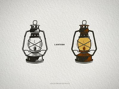 Lantern Vintage Design distressed patch graphics vintage travel lantern vector illustration logo letterpress camping badge