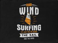 Wind Surfing Tee Design