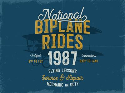 Biplane T-Shirt Design apparel badge emblem logo pilot aircraft biplane airplane graphic tee design t-shirt