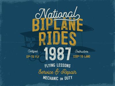 Biplane T-Shirt Design