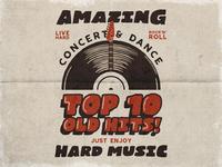 Vintage Music Poster / T-Shirt Design
