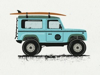 Retro Surf Car Illustration