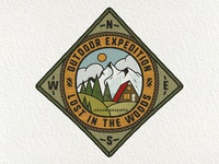 Retro Camping Badge | 1/12