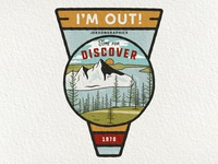 I'm Out | Retro Camping Badge | 2/12
