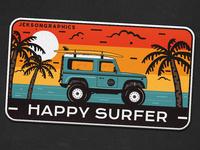 "🏄♂️ 4/12 | Happy Surfer Patch | ""Retro Camp Badges"" series 🌄"