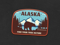 Alaska Patch | Retro Camping Badge | 6/12