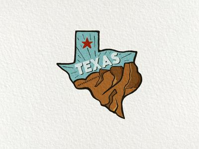 Texas Patch   Retro Camping Badge   7/12 illustration design emblem wanderlust retro design mountain state texas vector retro patch travel adventure typography badge vintage logo camping