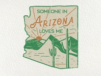 1/50 Arizona US State Sticker