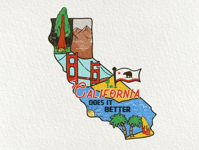 2/50 California US State Sticker