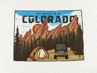 3/50 Colorado US State Sticker