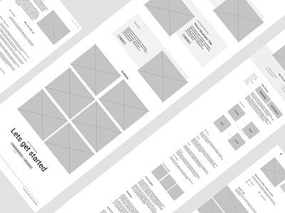 Rusty - Personal Site Wireframe agency website web design web portfolio personal homepage ui design