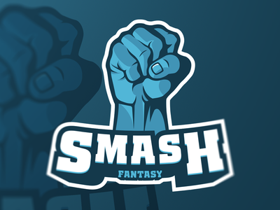 Smash Fantasy Logo football fantasy smash branding logo sports