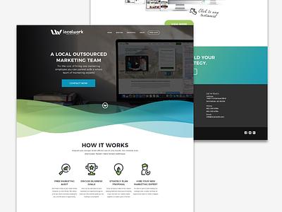 Localwork Marketing Website marketing green blue homepage brand design ui website web