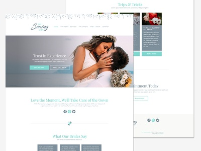 Sewing Lady Homepage bride wedding web branding homepage website ux ui design brand