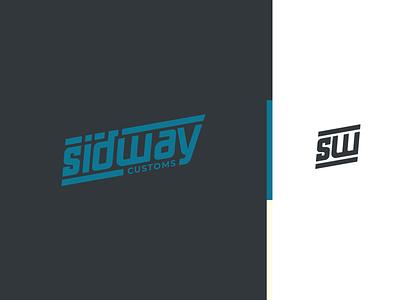 Sidway Customs Logo truck mechanic customs hotrod logo branding design brand