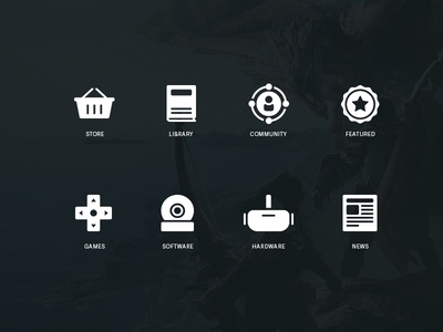 Steam Concept Icons