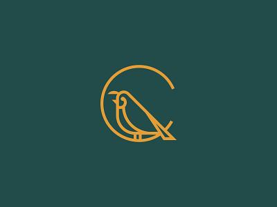 Monogram Quail farm quail monogram icon vector logo branding design illustration