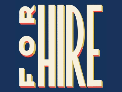 I'm For Hire! hire me type hand lettering graphic  design design for hire lettering typography
