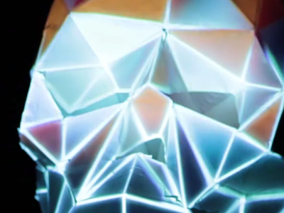 Projection Mapping installation projection mapping motion animation papercraft 3d skull