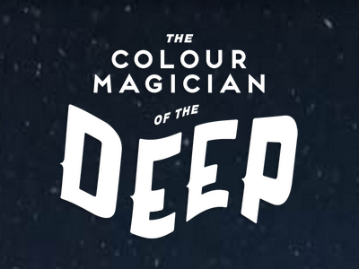 The Colour Magician of the Deep typography text title website interactive narrative parallax wavy
