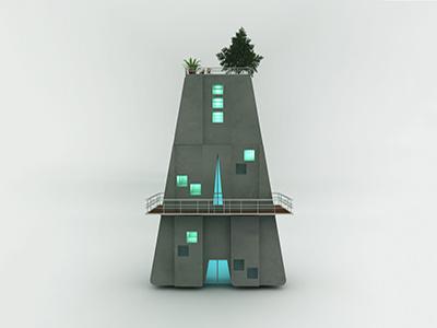 Architecture A architecture 3d type typography cinema4d a alphabet letter 3d