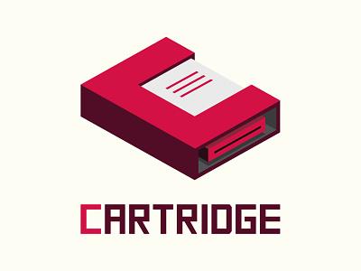 Cartridge Logo vector isometric illustrator snes nes n64 cassette cartridge 3d logo