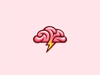 Brain Shock brainstorm 7gone logodesign mark branding icon logo rain hoses video thinking brain cloud storm bolt lightning shocking