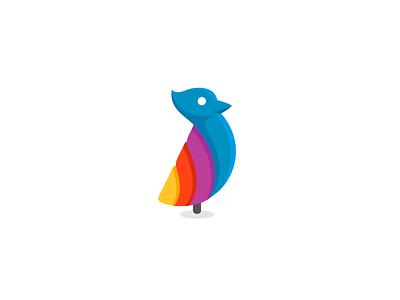 Looks like a bird logo half circle flat redesign symbol icon logo letter d candy mosaic direction rainbow travel plane bird