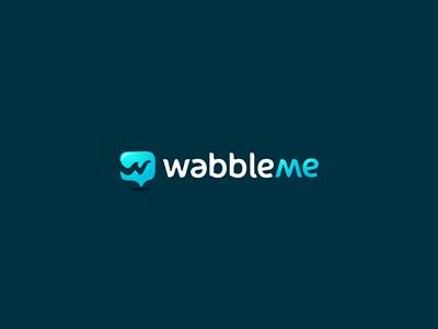 WabbleMe wabble me message sms text type send translate wobble chat talk logo mark