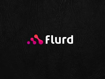 Flurd flurd music social share vinyl sound equalizer flurry voice logo mark icon