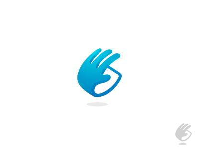 Hand + Grab (for sale) love finance money hand grab take coin spin logo icon symbol design