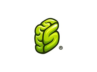 Unused Letter S brain s letter s brain think smart software box sketch 7gone logo brand icon