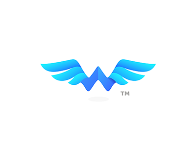 """""""Watwing"""" musical band - W  Wings 7gone hygienic brand bird plane symbol logo letter w fly fresh freedom wings"""