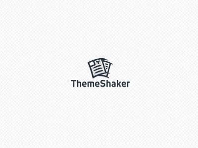 Theme Shaker theme template shake shaker wordpress web logo icon typography shop development