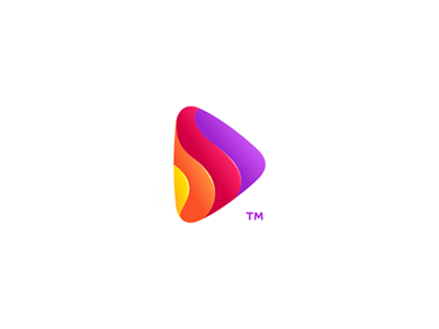 Logo layers 7gone music icon logo colorful motion fluid letter s button play spair