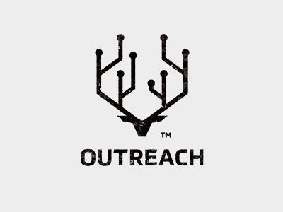 OUTREACH 7gone root logo bull cow horn animal deer scheme links seo outreach