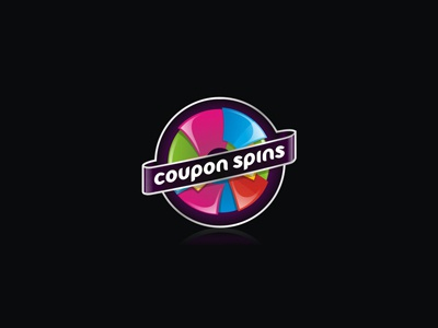 coupon spins coupon spins wheel fortune luck game color colorful logo brand icon typographic paper spin round circle couponspins 7gone design play
