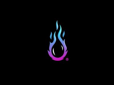 Aisana logo icon programming water drop flame fire code dev develop drupal aisana