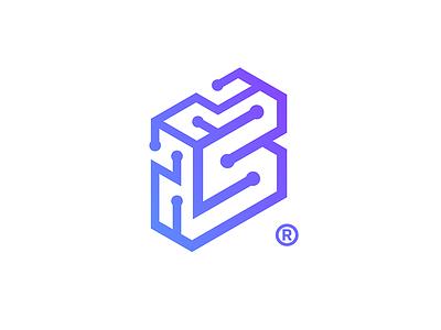 SLOKOTO icon brain logo chip schemes micro tech letter-s letters intelligence artificial slokoto