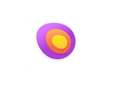 Call Center 7gone disort phone soft icon logo rainbow waves center call