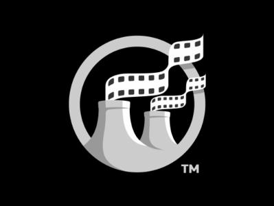 Filmreaktor (wip) video tape smoke reactor nuclear movie logo lab filmreactor factory brand icon filmreaktor
