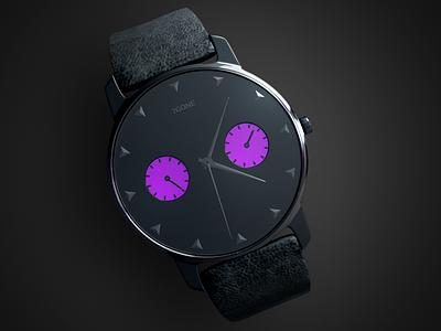 3D Hand Watch strip design grapchi 3d black crhome metal time watch handwatch
