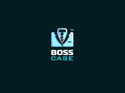 BossCase 7gone unused icon business brand logo handcase smoking tie suit case boss